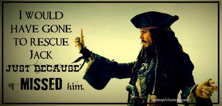 Aye! Jack Sparrow Pirates of the Caribbean