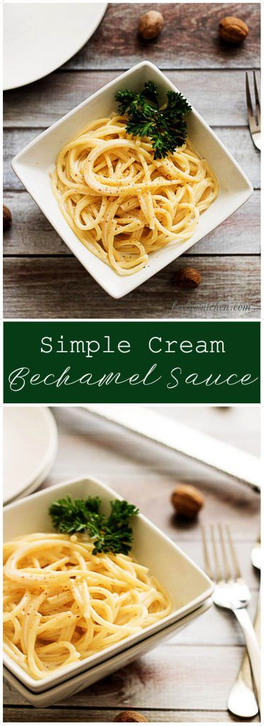 A simple cream bechamel sauce recipe infused with the flavors of rich butter, smooth cream, and aromatic nutmeg. via @berlyskitchen