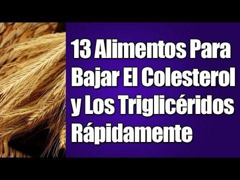 COMO DISMINUIR LOS TRIGLICERIDOS - YouTube