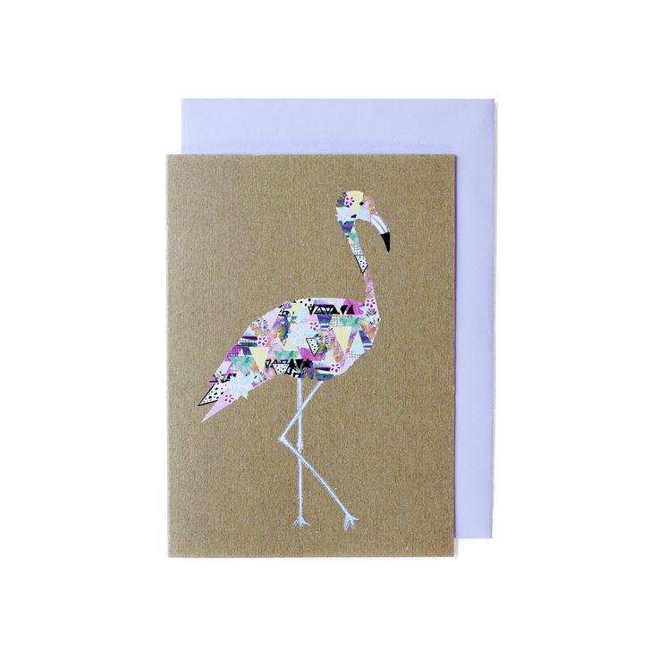 Amelia Lane Paper Flamingo Card