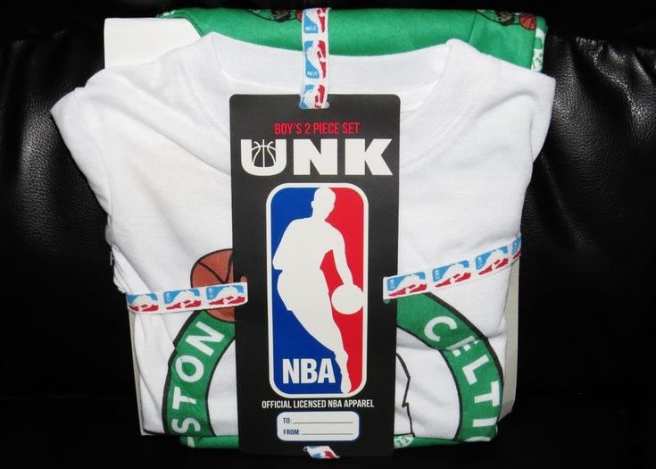 Boston Celtics NEW Pants Shirt & Gift Tag NBA Store Pajama Set Youth 4 5 Boys XS BRAND NEW WITH TAGS boys pajama set, size 4 (XS). Included is a FLAME RESISTANT Boston Celtics t-shirt with matching FLAME RESISTANT Boston Celtics lounge pants #Celtics #NBA