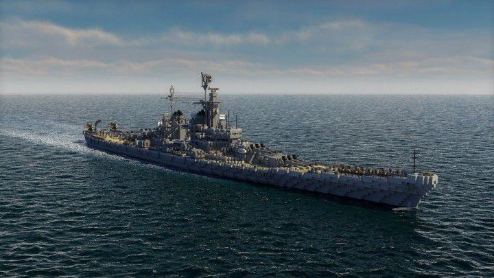 USS Montana class battle ship c4d Minecraft Project ...