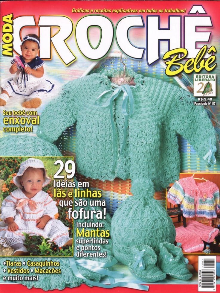 Receita Trico Fácil   Revista MODA CROCHÊ BEBÊ   Graficos receitas explicativas em todos os trabalhos   Seu bebê com o enxoval completo ...
