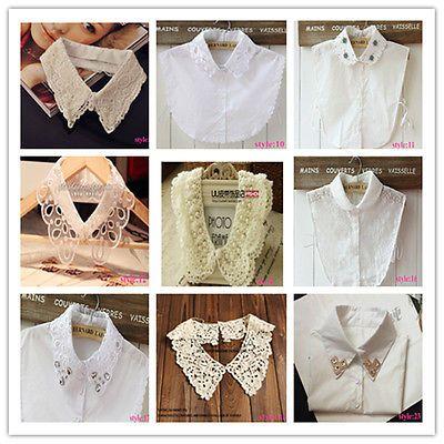 New-Fashion-women-039-s-PeterPan-Detachable-fake-Collar-shirt-choker-Necklace-scarf