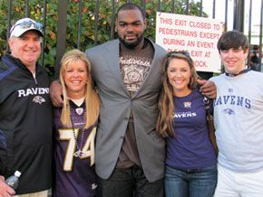 Michael Oher dared to dream and made it happen while the Tuohy family made room in their home and room in their hearts for him.  The Blind Side was an amazing movie!