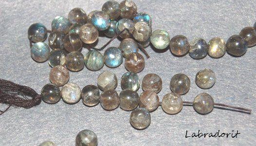 Labradorit A, 7,5 mm rund, styck