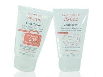 AVENE COLD CREAM CREMA DE MANOS DUPLO 2X50 ML  La Crema Avéne Cold Cream Hidrata y protege las manos de forma duradera.