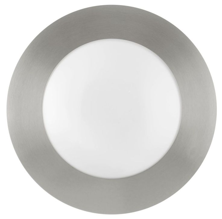 Light fixture, Palmera Ceiling Light Matte Nickel Finish with Opal Frosted Glass
