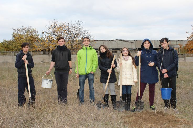 Planting trees in Comrat, Moldova, during the Finals of the MEGA Impact 2015 Championship.