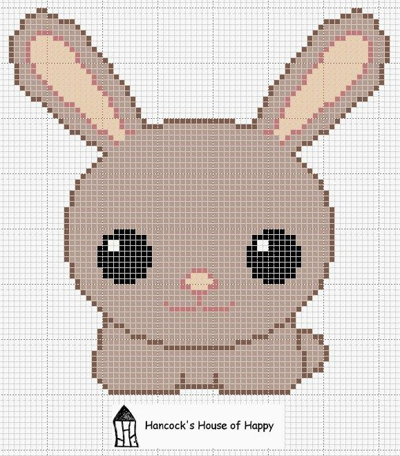 hancock's house of happy: Pinch Punch First of the Month Rabbit Rabbit Rabbit! Cute Kawaii Bunny Cross Stitch Chart