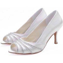 Scarpe da Sposa e Cerimonia Aperte Avanti con Tacchetto www-miamastore-com grigio Da cerimonia