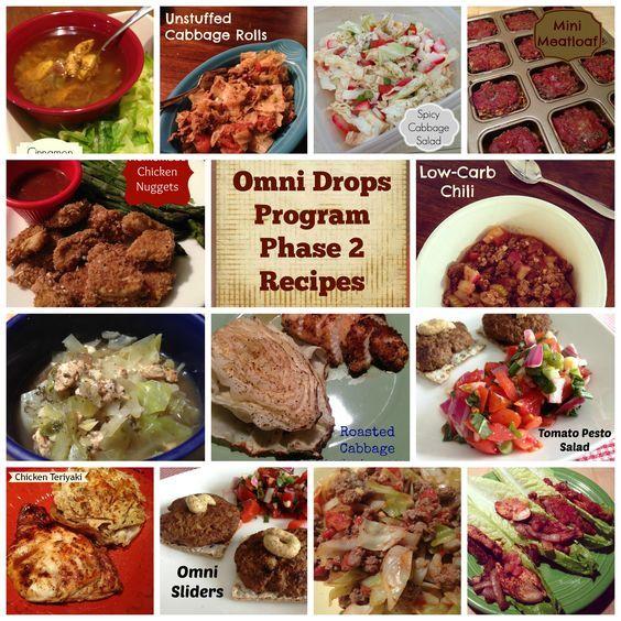 Omni Drops Program Phase 2 Recipes #omnitrition #omnidrops #omni #hcg