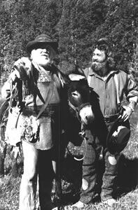 Denver Pyle Grizzly Adams   Denver Pyle & Dan Haggerty on Grizzly Adams - Sitcoms Online Photo ...