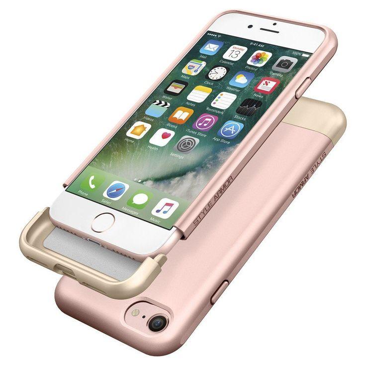 Spigen Style Armor Case - хибриден кейс от две части за iPhone 7 (розово злато): • Производител:Spigen • Модел: Style Armor… www.Sim.bg