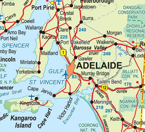 Adelaide Map • Map of Adelaide • we love Adelaide's geography, Eyre, Yorke and Fleurieau peninsulas, the mid North, and the South East • why we love Adelaide