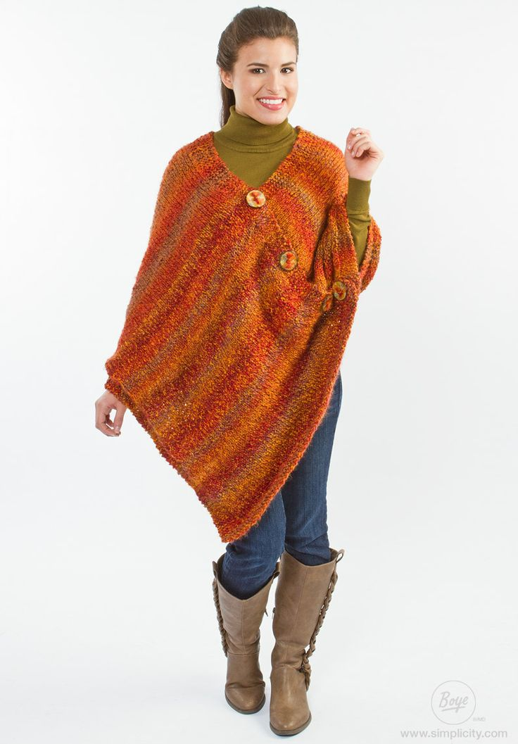 Knitting Poncho Easy : Best images about ponchos on pinterest shawl