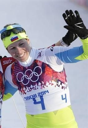 Vesna Fabjan: b. 1985; Fabjan is a cross country skier from Slovenia.  She won a bronze medal in Sochi for Ladies' Sprint Free.