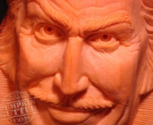Vincent Price pumpkin - 63 Mindblowing Halloween Pumpkin Carvings (Picture Gallery)