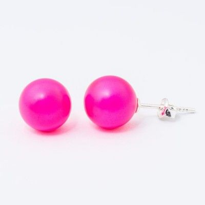 Swarovski Pearl Earrings 10mm Neon Pink  Dimensions: length: 2,2cm pearl size: 10mm Weight ~ 3,30g ( 1 pair ) Metal : sterling silver ( AG-925) Stones: Swarovski Elements 5818 10mm Colour: Crystal Neon Pink Pearl 1 package = 1 pair Price 9.90 PLN( about`2,5 EUR)