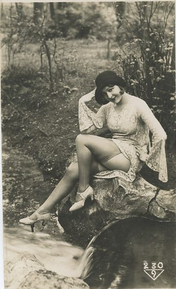 A Day in the Park 1920s risque postcard