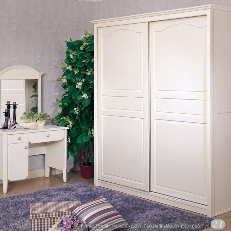 Counter Genuine Lin Yu Smack Korean Furniture F104 Push Door Wardrobe /  Sliding Door Wardrobe