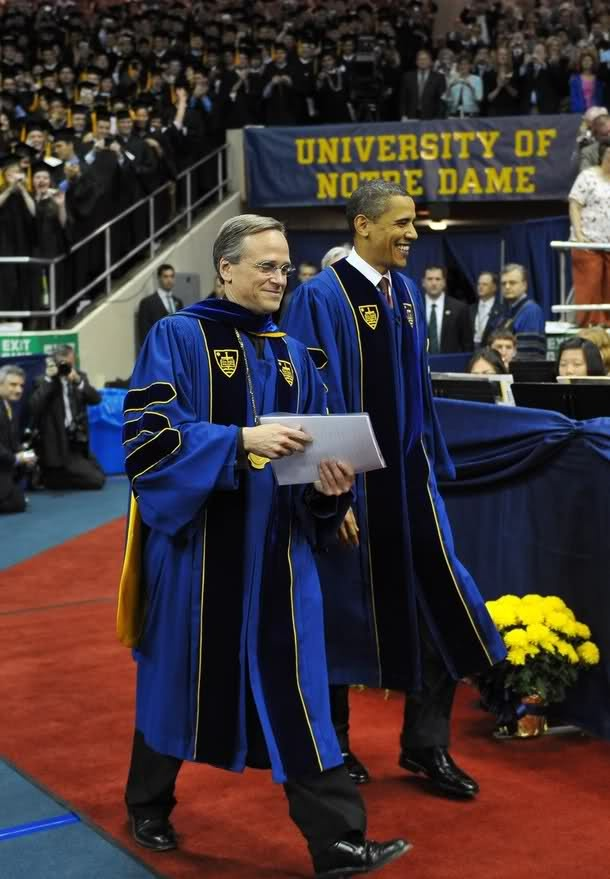 President Obama gives Commencement address to graduates of the University of Notre Dame. Way to go POTUS!