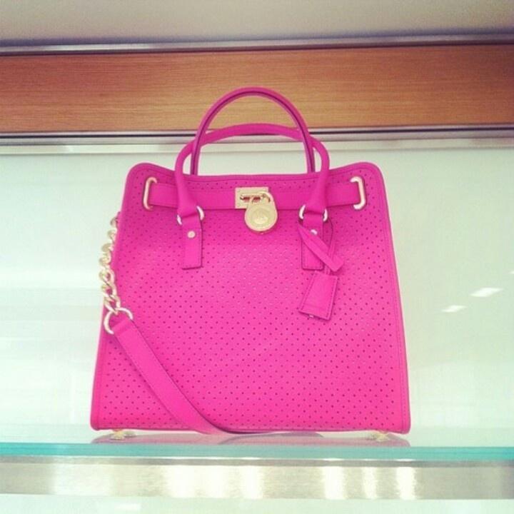 Neon pink Michael Kors bag - i love it !!