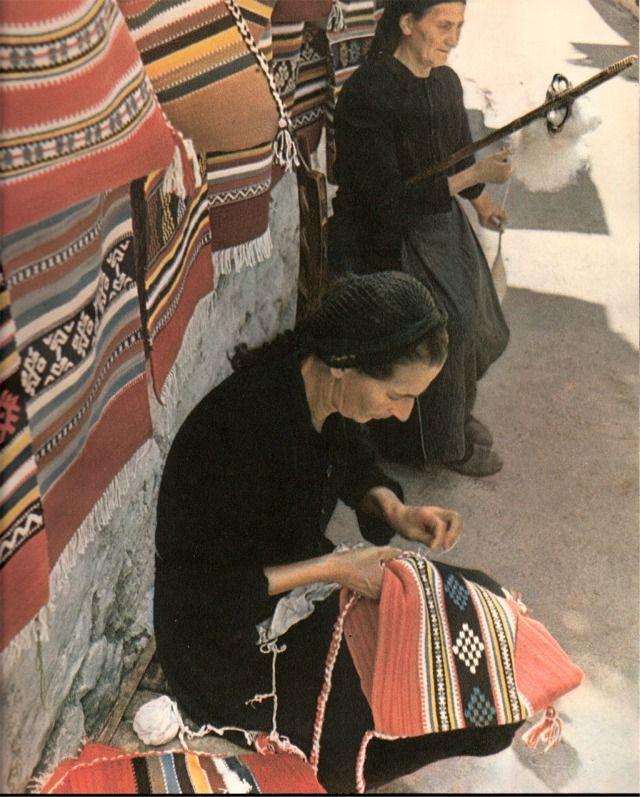 Greek village carpet weavers
