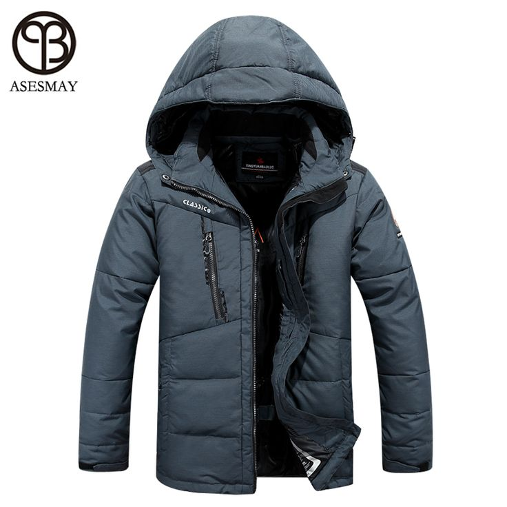 asesmay winter jacket men 2016 brand clothing parka men thick down jacket men coat winter jacket goose feather winter parka Free Shipping