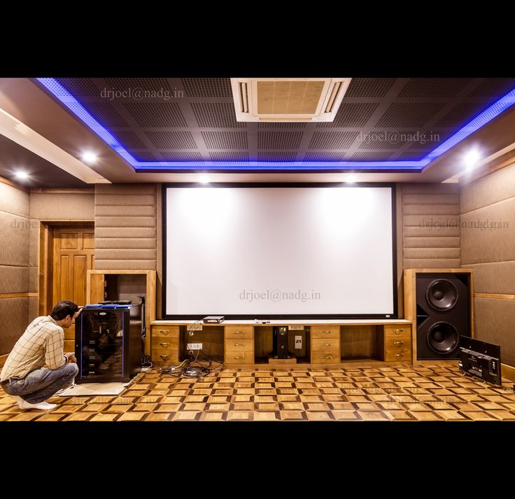 Home theatre in Kochi- final tuning
