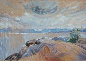 Sea and Sky, c1936 by Emily Carr: 'the vision is radically joyful and modern, the paint as fine yet potent as the breezy air around her'.