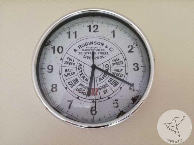 Personnalisation d'une horloge style commande timonerie de bateau DIY