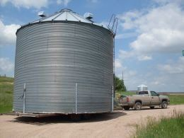 A discussion of how and where to locate used grain bins for various needs, including grain storage and housing.  How to tell a good quality grain bin from one of poor quality. Bins listed for sale.