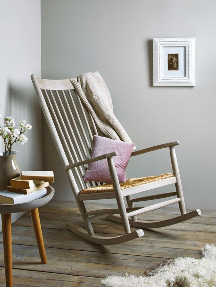 Wooden Rocking Chair In The Corner