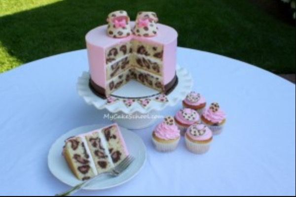 Ideal baby shower / birth or christening cake idea