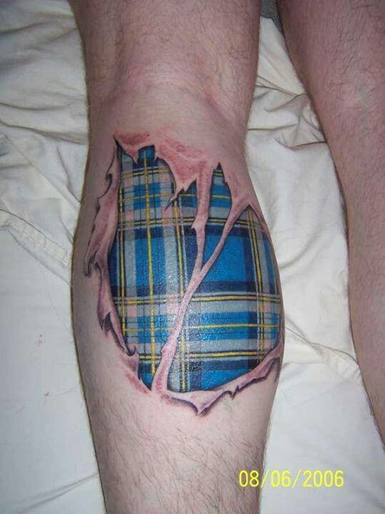 scottish tartan tattoo awesome tattoos pinterest a. Black Bedroom Furniture Sets. Home Design Ideas