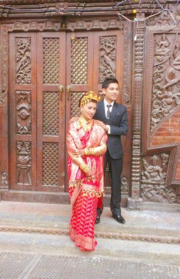 Newari bride and groom newari bride groom newaribride for Wedding dress nepali culture
