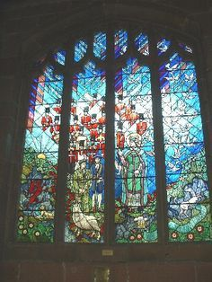 Tercentenary window in St Giles Church Wrexham.