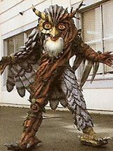 An Owl Monster was one of Astronema's robotic monsters, whose name is unknown. The Power Rangers fought this monster at human height and then was grown huge and it had the ability to emit electricity. It was destroyed by the Astro Megazord.Rangers Gone Psycho