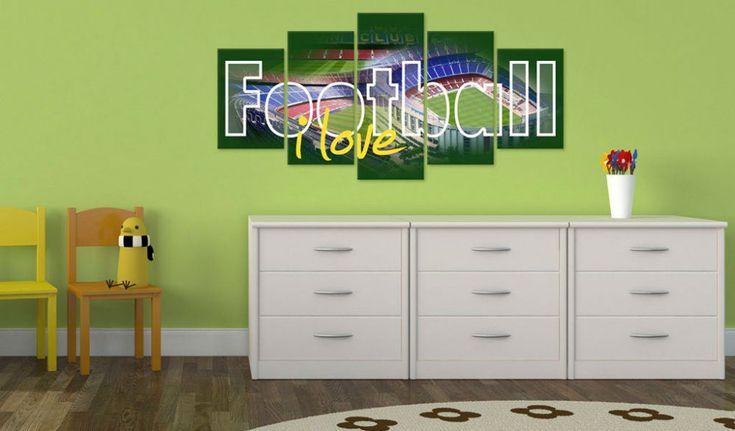 Obraz na plátně - I Love Football #canvas #prints #obraz #decor #inspirace #home #barvy #pictureframes #fotball #addiction