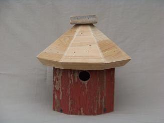 Barnwood wren house by WildBirdHousePeople on Etsy