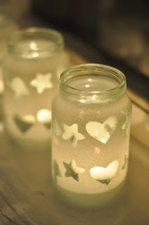 spray painted votives
