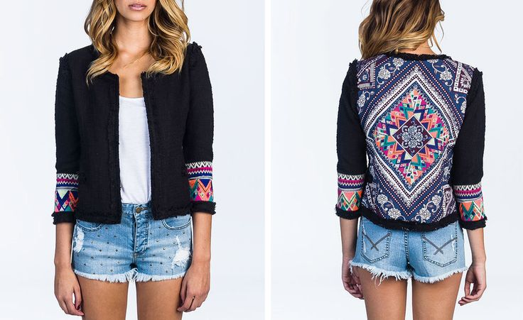 Ikat jacket. Billabong is made for living.