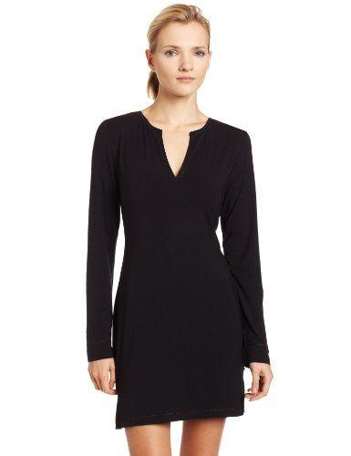 Calvin Klein Women's Essentials Long Sleeve Night Dress, Black, Small Calvin Klein http://www.amazon.com/dp/B002MPQM76/ref=cm_sw_r_pi_dp_iETTwb0B09WFF