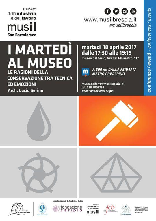 I Martedì al Muse Le ragioni della conservazione tra tecnica ed emozioni a Brescia  http://www.panesalamina.com/2017/54800-i-martedi-al-muse-le-ragioni-della-conservazione-tra-tecnica-ed-emozioni-a-brescia.html