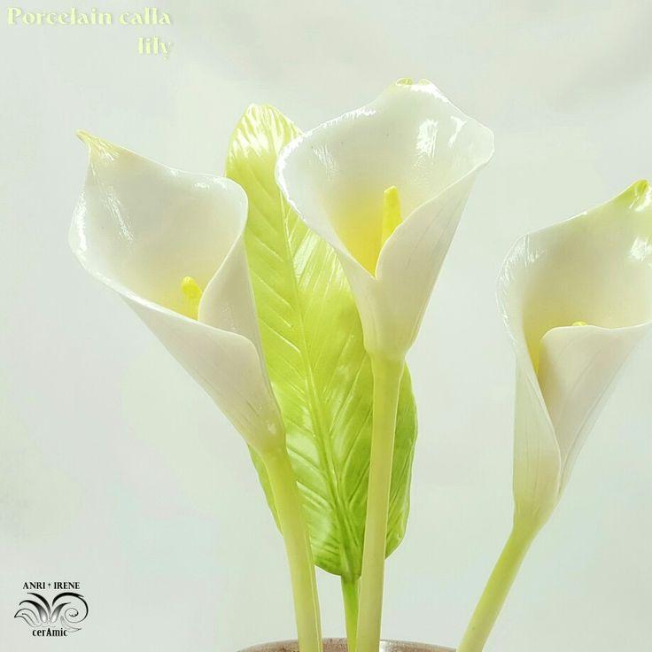 Porcelain calla lily, ceramic flower, ceramic floral