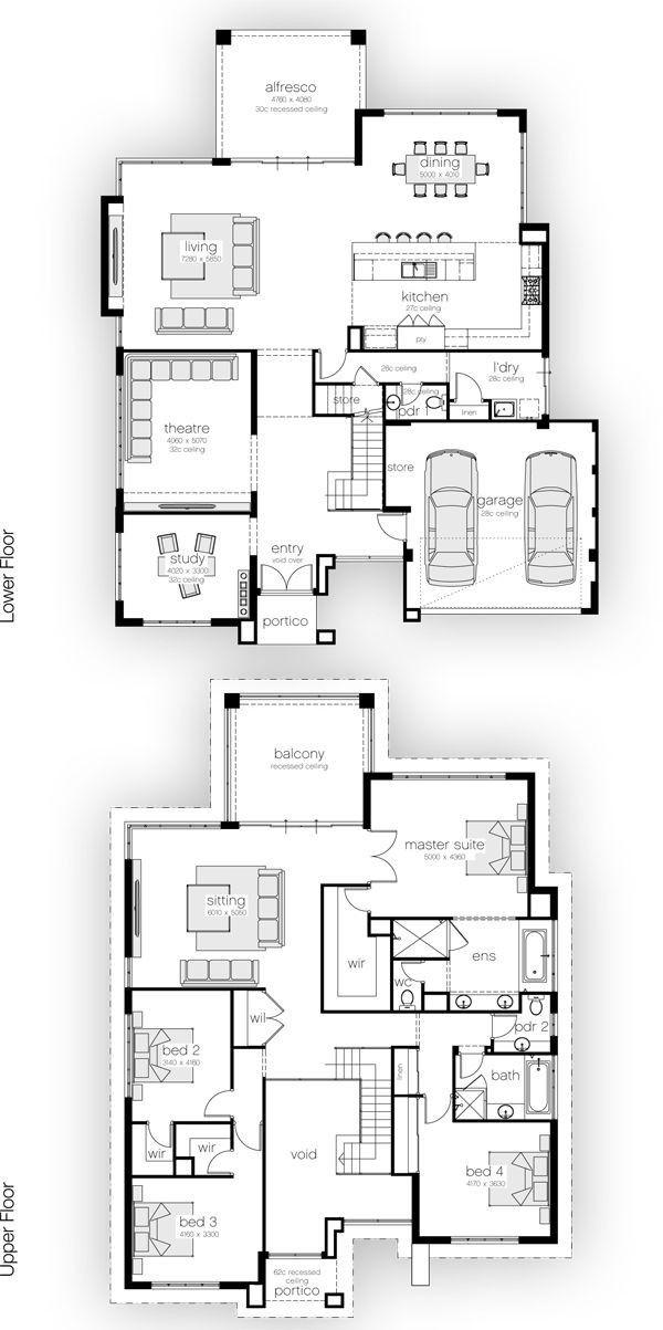 Pin By La Ra Martin On Mimari Proje Fotograf Detay House Plans 2 Storey House Layouts House Floor Plans