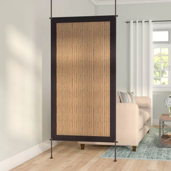 Noelle 38 W X 68 H Metal Single Panel Room Divider In 2021 Room Divider Walls Living Room Divider Glass Room Divider Single panel room dividers