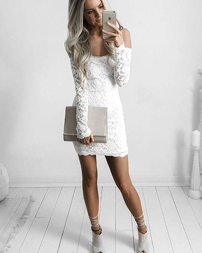 Long Sleeve Tight Homecoming Dresses