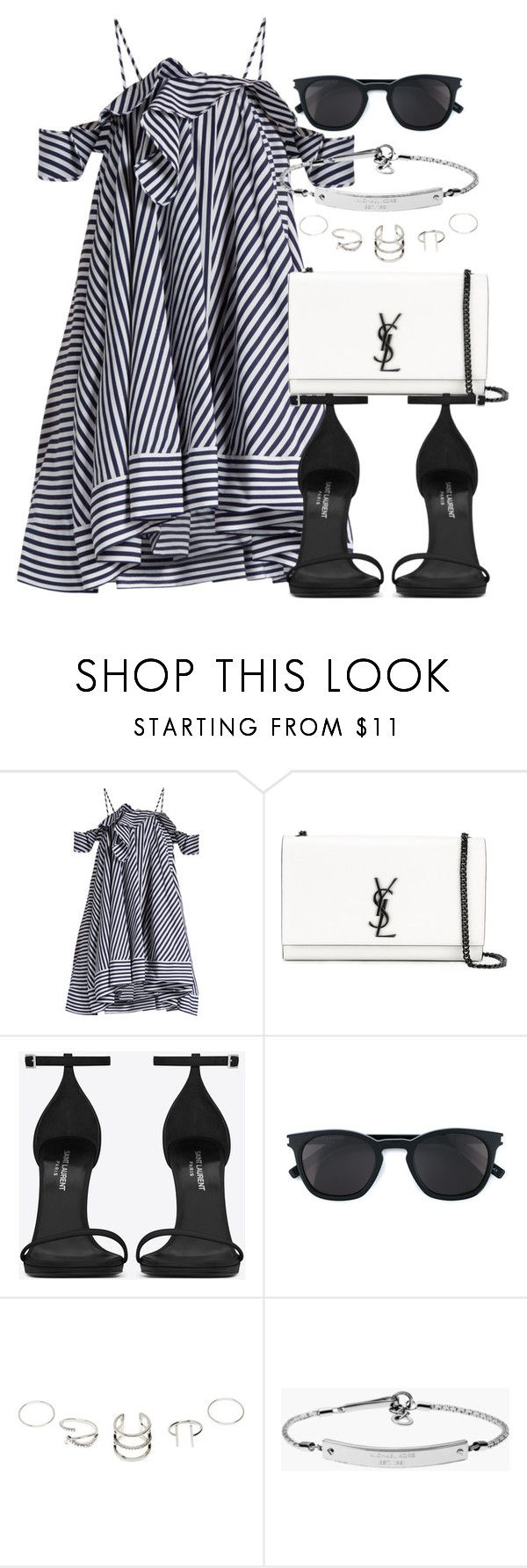 """""""Untitled #12283"""" by vany-alvarado ❤ liked on Polyvore featuring MSGM, Yves Saint Laurent and MICHAEL Michael Kors"""